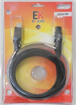 CABLE USB-XLR 3 METROS D004