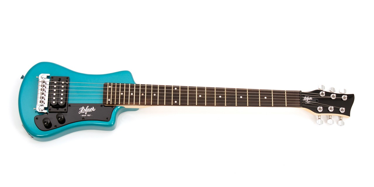 "Guitarra ""Höfner"" Shorty Azul"