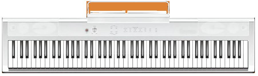 PIANO DE ESCENARIO ARTESIA PE-88WB PERFORMER BLANCO